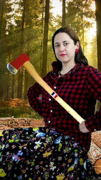In between finishing a couple of articles on French feminist theorists, Dr. Michèle Schaal will clear her mind by chopping down sustainably-grown trees in Oregon. Sharp axe, sharp mind – or so they say.